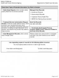 """Form DHCS6236 """"Request for Access to Protected Health Information"""" - California, Page 3"""