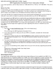 "Form DMHC20-224 ""Independent Medical Review (Imr) Application/Complaint Form"" - California, Page 4"