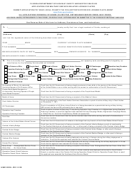"Form HSMV83034 ""Application for Military Service-Related License Plates"" - Florida"