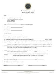 """""""Workers' Compensation Leave Election Form"""" - Georgia (United States)"""