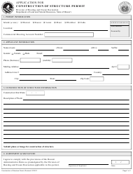 """""""Application for Construction Structure Permit"""" - Hawaii"""