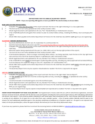 """Collection Agency Quarterly Notification of Agents Form"" - Idaho"