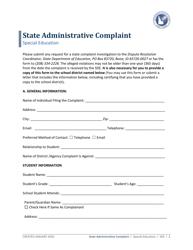 """State Administrative Complaint"" - Idaho"