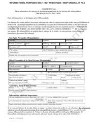 """Formulario CAO DV1-2 """"Hoja Informativa De Entrega De Documentos Por Parte De Las Fuerzas Del Orden Publico Ordenes De Proteccion"""" - Idaho (Spanish)"""