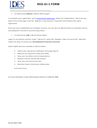 "Form REG-UI-1 ""Report to Determine Liability Under the Unemployment Insurance Act"" - Illinois"