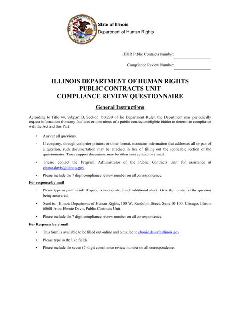"""""""Compliance Review Questionnaire"""" - Illinois Download Pdf"""