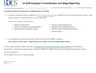 "Form UI-3/40 ""Employer's Contribution and Wage Report"" - Illinois"