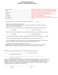 """Utilization Review Renewal Registration Form"" - Illinois"