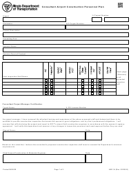 "Form AER34 ""Consultant Airport Construction Personnel Plan"" - Illinois"