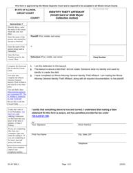 "Form SC-AF3600.3 ""Identity Theft Affidavit (Credit Card or Debt Buyer Collection Action)"" - Illinois"