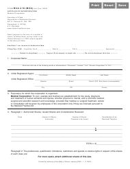 "Form BCA2.10(MCA) ""Articles of Incorporation (Medical Corporation)"" - Illinois"