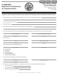"""Form IL BB01 """"Application for Registration as a Business Broker"""" - Illinois"""