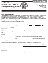 """Form IL BB10 """"Consent to Service of Process for Corporations, Unincorporated Associations and Individuals"""" - Illinois"""