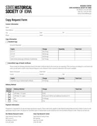 """""""Copy Request Form"""" - Iowa"""