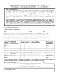 """Nonpublic Parent Reimbursement Request Form"" - Iowa"