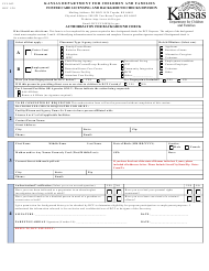 """Form FCL002 """"Authorization for Background Check"""" - Kansas"""