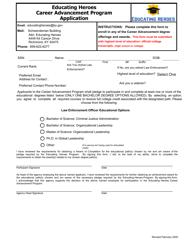 """Educating Heroes Career Advancement Program Application"" - Kentucky"