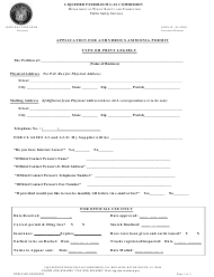 "Form DPSLP8012 ""Application for Anhydrous Ammonia Permit"" - Louisiana"