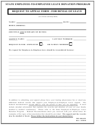 "Form MS406-EE ""Request to Appeal Form for Denial of Leave"" - Maryland"