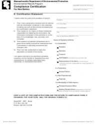 """""""Compliance Certification for New Boilers"""" - Massachusetts, Page 4"""
