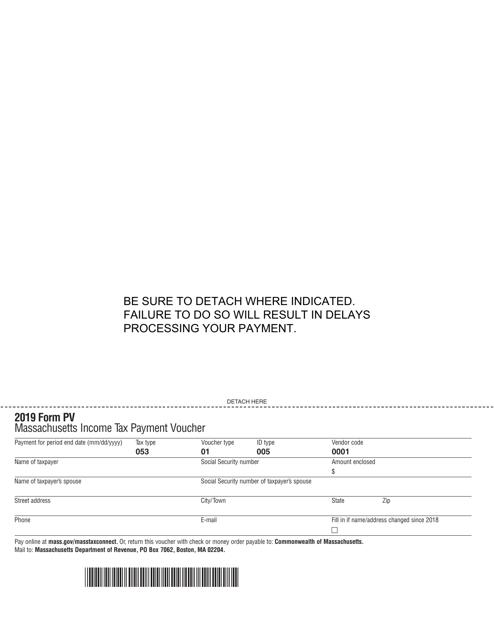 Form PV 2019 Printable Pdf
