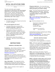 "Form CTS-01 ""Initial Solicitation Form"" - Michigan"