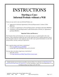 Instructions for Form PRO702, PRO902, PRO901 - Minnesota