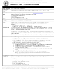 "Form MO500-3175 ""Request for Grant Award (Rfga) Application"" - Missouri"