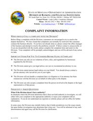 """Complaint Form"" - Montana"