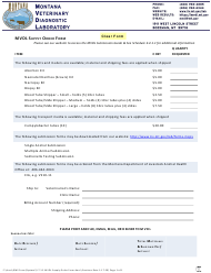 """Mvdl Supply Order Form"" - Montana"