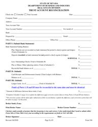 "Form 546 ""Trust Account Reconciliation"" - Nevada"