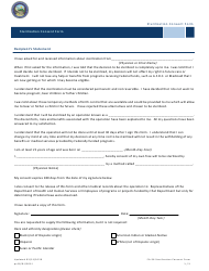 """Form FA-56 """"Sterilization Consent Form"""" - Nevada"""