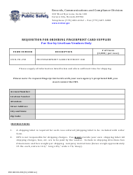 "Form 0501RCCD-001 ""Requisition for Ordering Fingerprint Card Supplies for Use by Livescan Vendors Only"" - Nevada"