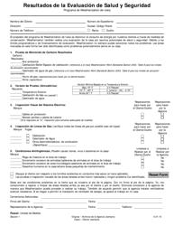 """Parte 1 """"Resultados De La Evaluacion De Salud Y Seguridad"""" - Iowa (Spanish)"""