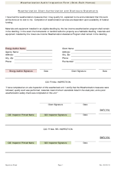 """Weatherization Audit/Inspection Form (Stick-Built Homes)"" - Iowa"