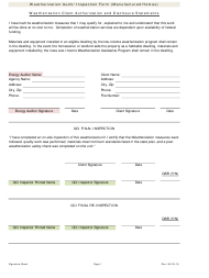 """Weatherization Audit/Inspection Form (Manufactured Homes)"" - Iowa"