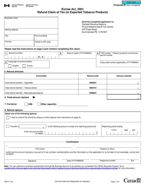 Form E681 Printable Pdf
