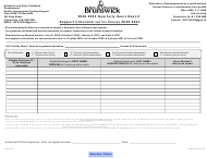 """Form SNB12222 """"Quarterly Hours Report"""" - New Brunswick, Canada (English/French), 2021"""