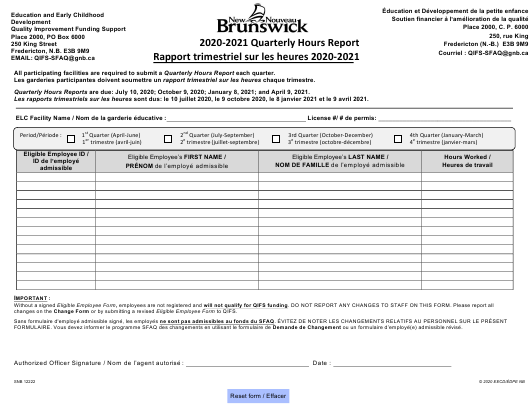 Form SNB12222 2021 Printable Pdf