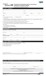 """Forme V-0022 """"Programme D'aide Quebecois Pour Les Infrastructures Aeroportuaires Regionales (Paqiar) Demande De Contribution Financiere"""" - Quebec, Canada (French)"""