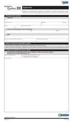 """Forme V-3089 """"Rapport Final"""" - Quebec, Canada (French)"""
