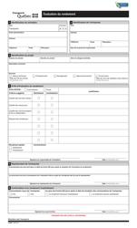 """Forme V-2964 """"Evaluation Du Rendement"""" - Quebec, Canada (French)"""
