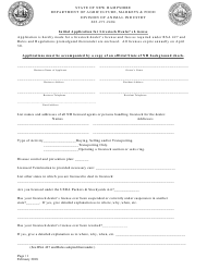 """""""Initial Application for Livestock Dealer's License"""" - New Hampshire"""