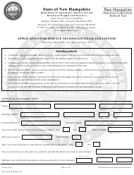 "Form ST-1 ""Application for Service Technician Exam and License"" - New Hampshire"