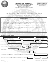 "Form WM-1 ""Application for Public Weighmaster Exam and License"" - New Hampshire"