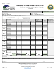 """Form NHDES-A-01-004 (INV-N1) """"Annual Nox Emissions Statement Form"""" - New Hampshire"""