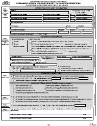 """Form PA-29 """"Permanent Application for Property Tax Credit/Exemptions"""" - New Hampshire"""