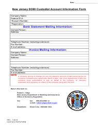"""New Jersey Dobi Custodial Account Information Form"" - New Jersey"
