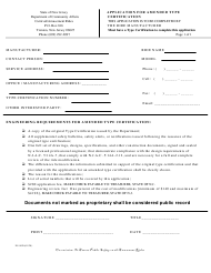 "Form ES-90D ""Application for Amended Type Certification"" - New Jersey"
