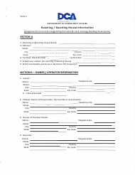 "Form II ""Rooming / Boarding House Information"" - New Jersey"
